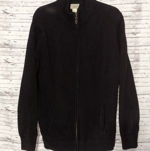 L.L. Bean SZ:L Tall Black Full zip knit sweater